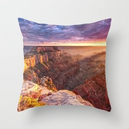 Purple Sunset at the Grand Canyon Throw Pillow