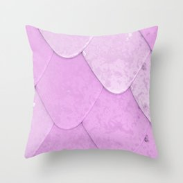 Pattern of purple rounded roof tiles Throw Pillow