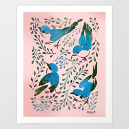 Birds in Spring Art Print