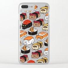 Sushi Persian Cat Clear iPhone Case