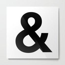 Ampersand Black and White Helvetica Typography Design Poster Home Decor Wall Art Scandinavian Decor Metal Print