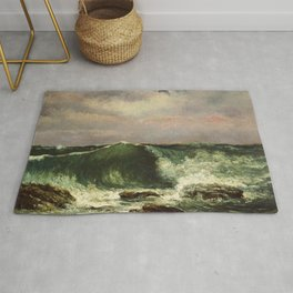 "Gustave Courbet ""The Wave 1869 private"" Rug"