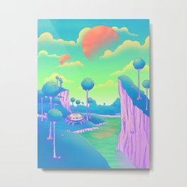 Planet Namek Metal Print