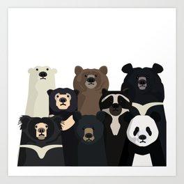 Bear family portrait Kunstdrucke