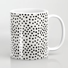 Preppy brushstroke free polka dots black and white spots dots dalmation animal spots design minimal Coffee Mug