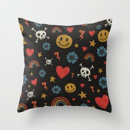 Happy Days Pattern Throw Pillow