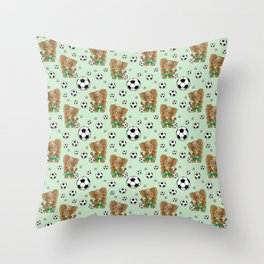 SOCCER STARS Throw Pillow