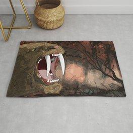 SABER TOOTH TIGER BEAUTIFUL ART PIECE Rug