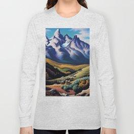 American Masterpiece 'The Sheep Herder' by Thomas Hart Benton Long Sleeve T-shirt