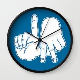 LA Fingers - Dodger Blue Wall Clock