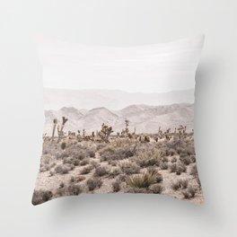 Sierra Nevada Mojave // Desert Landscape Blush Cactus Mountain Range Las Vegas Photography Throw Pillow