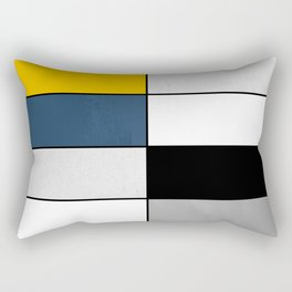 Geometric modern yellow blue gray white black pattern Rectangular Pillow