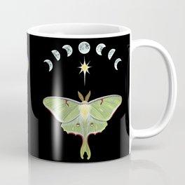 Luna moth and moon phases Coffee Mug