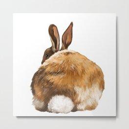Rabbit Butt Metal Print