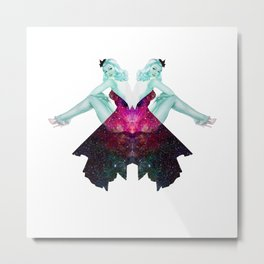 Girls in Space Metal Print