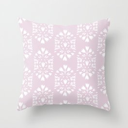 pink flower pattern Throw Pillow