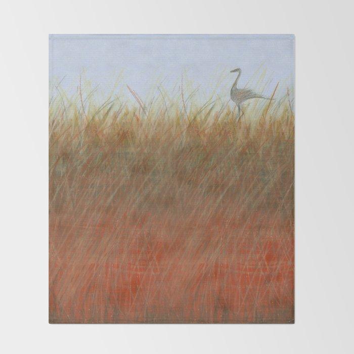 Autumn Marsh Throw Blanket