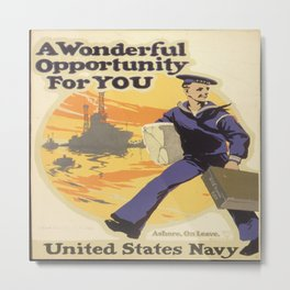 Vintage poster - A Wonderful Opportunity For You Metal Print