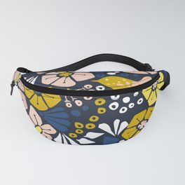 Blue wellness garden - florals matching to design for a happy life Fanny Pack