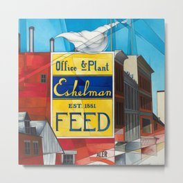 Small Town America - Buildings, Lancaster, Pennsylvania by Charles Demuth Metal Print
