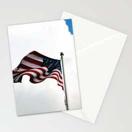 Old Glory Up In The Clouds Stationery Cards
