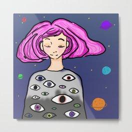 space eyes Metal Print