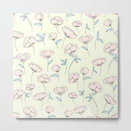 Spring Flowers / Pattern Metal Print