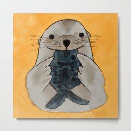 Fishy Seal Metal Print