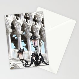 Venice St. Mark's Square and the lamppost Stationery Cards