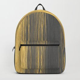 Blended Lines Rough Stripe Yellow Grey Backpack