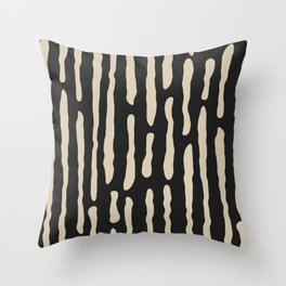 Black & Cream Abstract  Throw Pillow