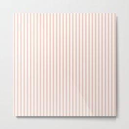 Small Shell Coral Peach Orange Mattress Ticking Stripes Metal Print
