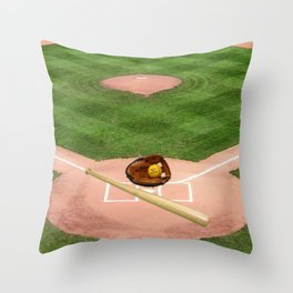 Baseball field /Baseballfeld2 Throw Pillow