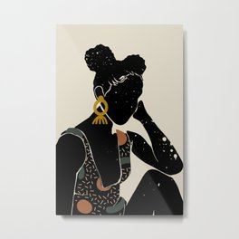 Black Hair No. 6 Metal Print