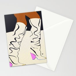 these boots are made for walking Stationery Cards