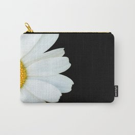 Hello Daisy - White Flower Black Background #decor #society6 #buyart Carry-All Pouch