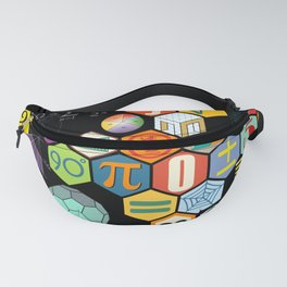 Math in color Black B Fanny Pack