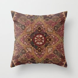 Coral and Pearls Throw Pillow