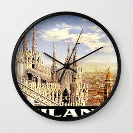 Vintage poster - Milano Wall Clock