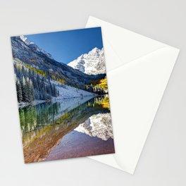 Maroon Bells Colorado Aspen USA Stationery Cards