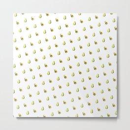 Avocado Print | White Metal Print