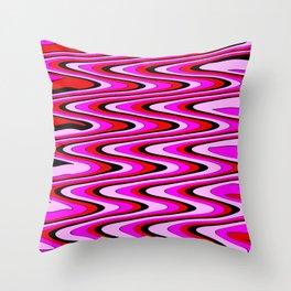 Monochromatic red slur Throw Pillow