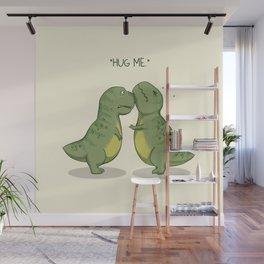 T-Rex Hugs Wall Mural