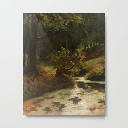 Brook in the Woods near Oosterbeek Metal Print