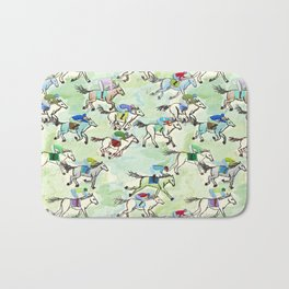 Off to the Horse Races Bath Mat