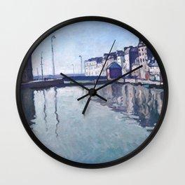 Albert Marquet - Bassin du Roy, Le Havre, France, Normandy Wall Clock