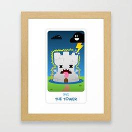 The Chibi Tarot - XVI The Tower Framed Art Print