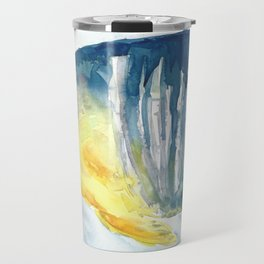 Blue and Yellow tropical fish Travel Mug