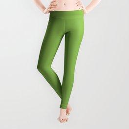 GREENERY PANTONE 15-0343 Green Leggings
