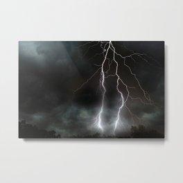 Lightning Strikes Metal Print